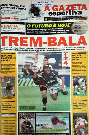 Suplemento que circulou na última edição da Gazeta Esportiva
