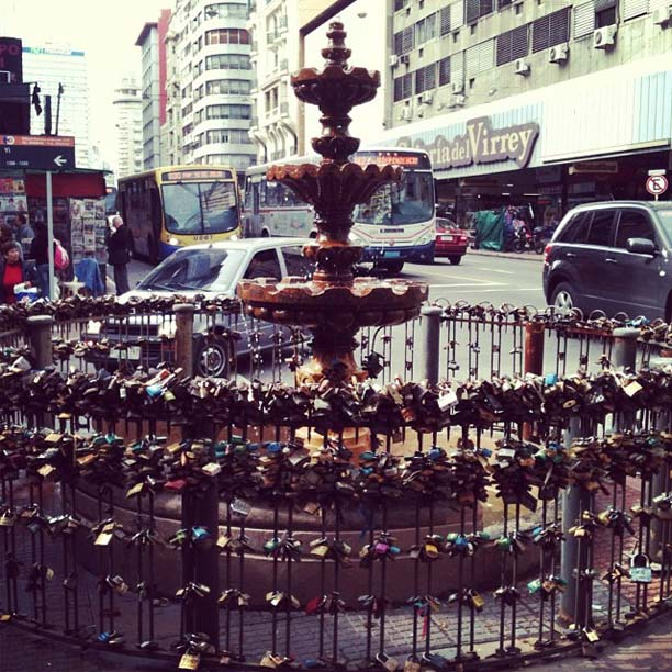 Avenida 18 de Julio, Montevidéu, em 11 de maio de 2012.